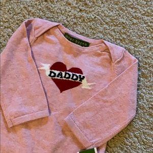 BRAND NEW Amber Hagen cashmere onesie.